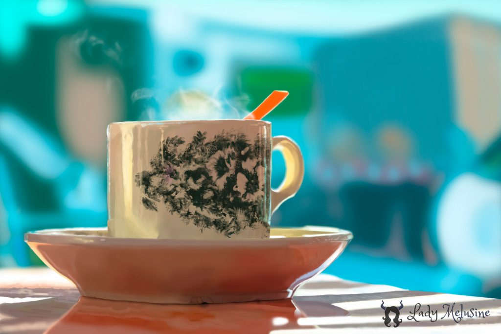 Digital Painting Tasse Lady Melusine