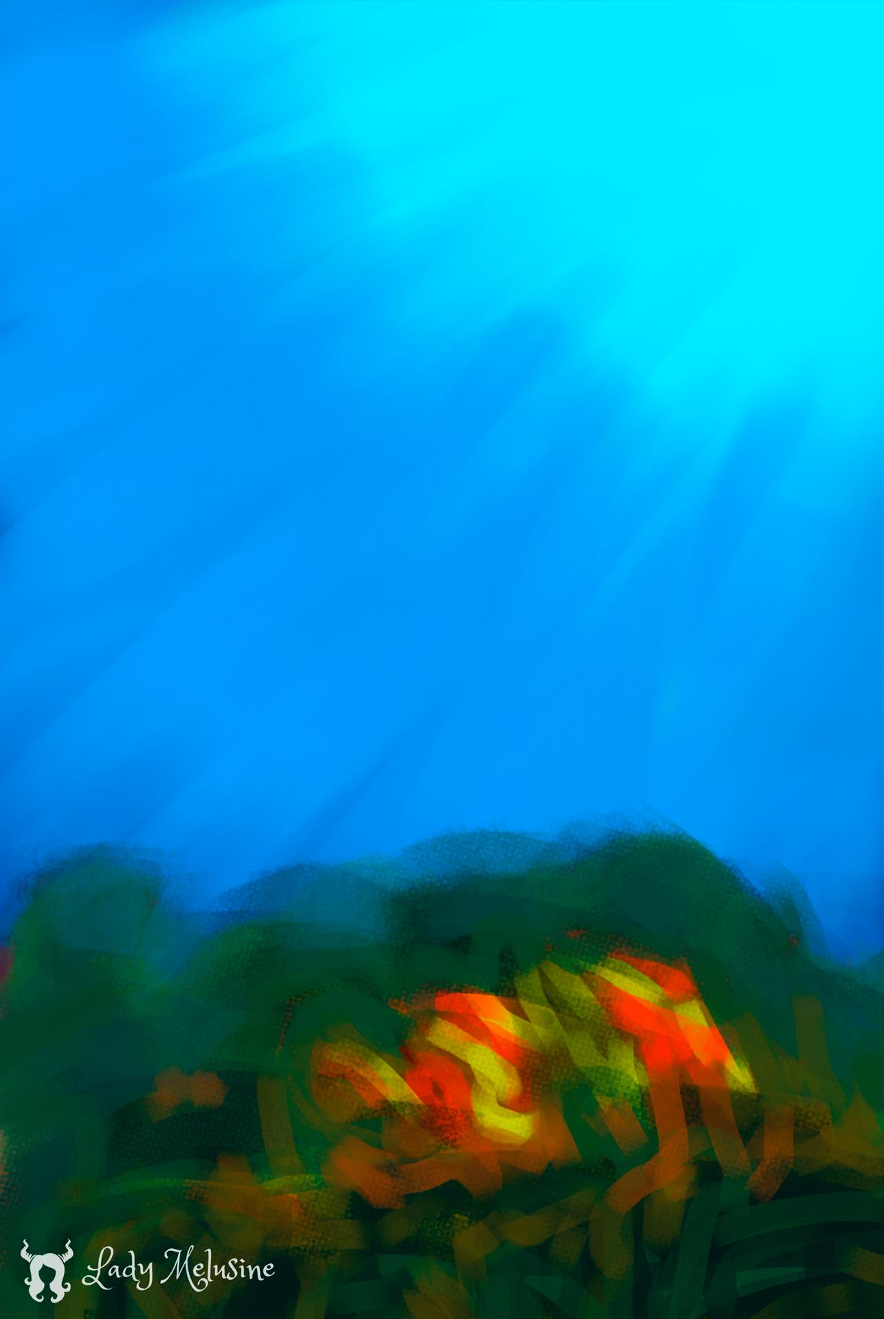 Digital Painting Carte Recifs Requins 02 Lady Melusine
