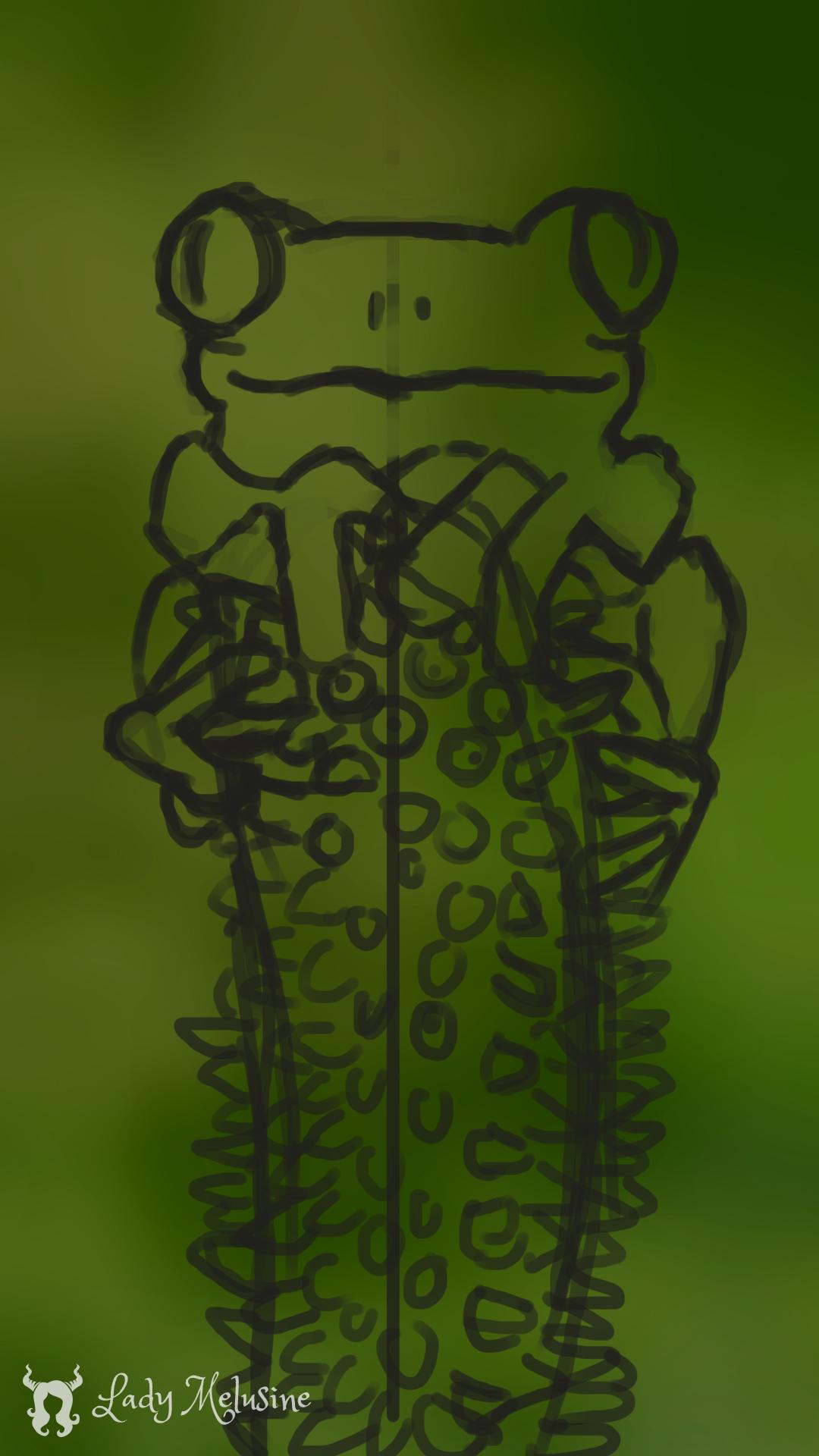 Digital Painting grenouille 02 Lady Melusine