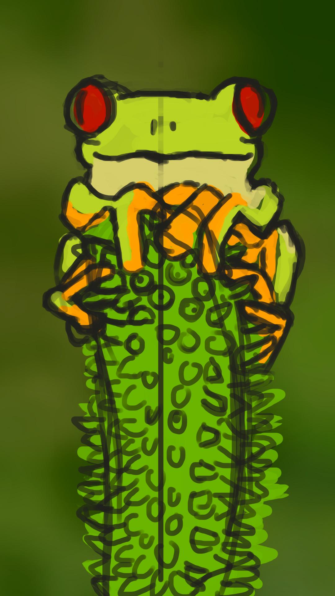 Digital Painting grenouille 03 Lady Melusine