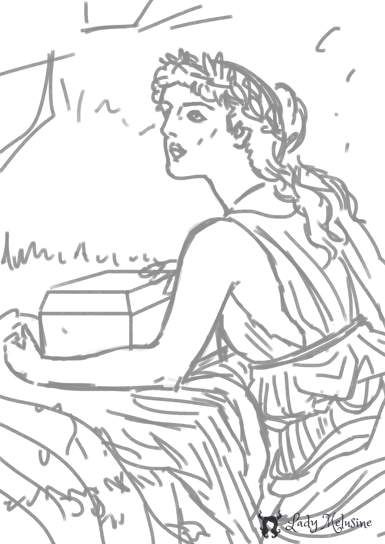 Digital Painting Croquis Pandore 02 Lady Melusine