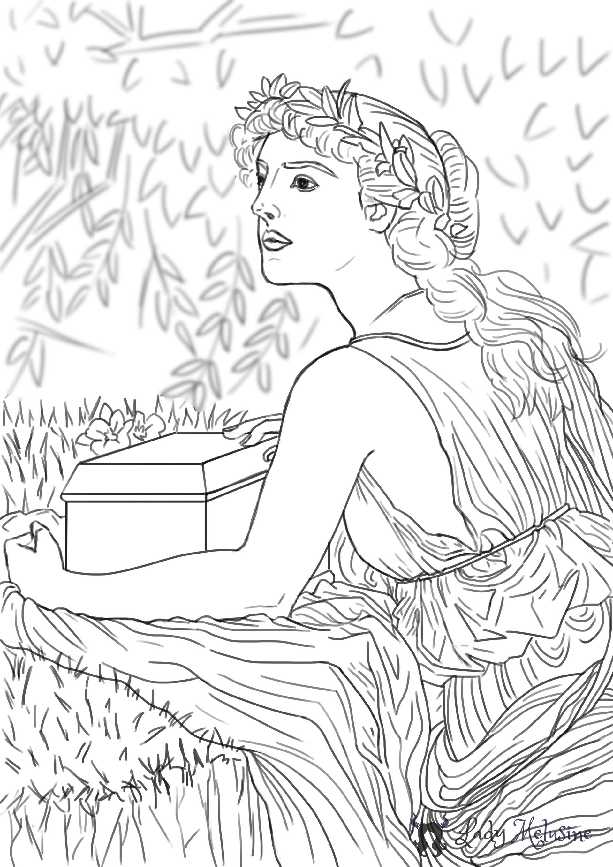 Digital Painting Croquis Pandore 03 Lady Melusine