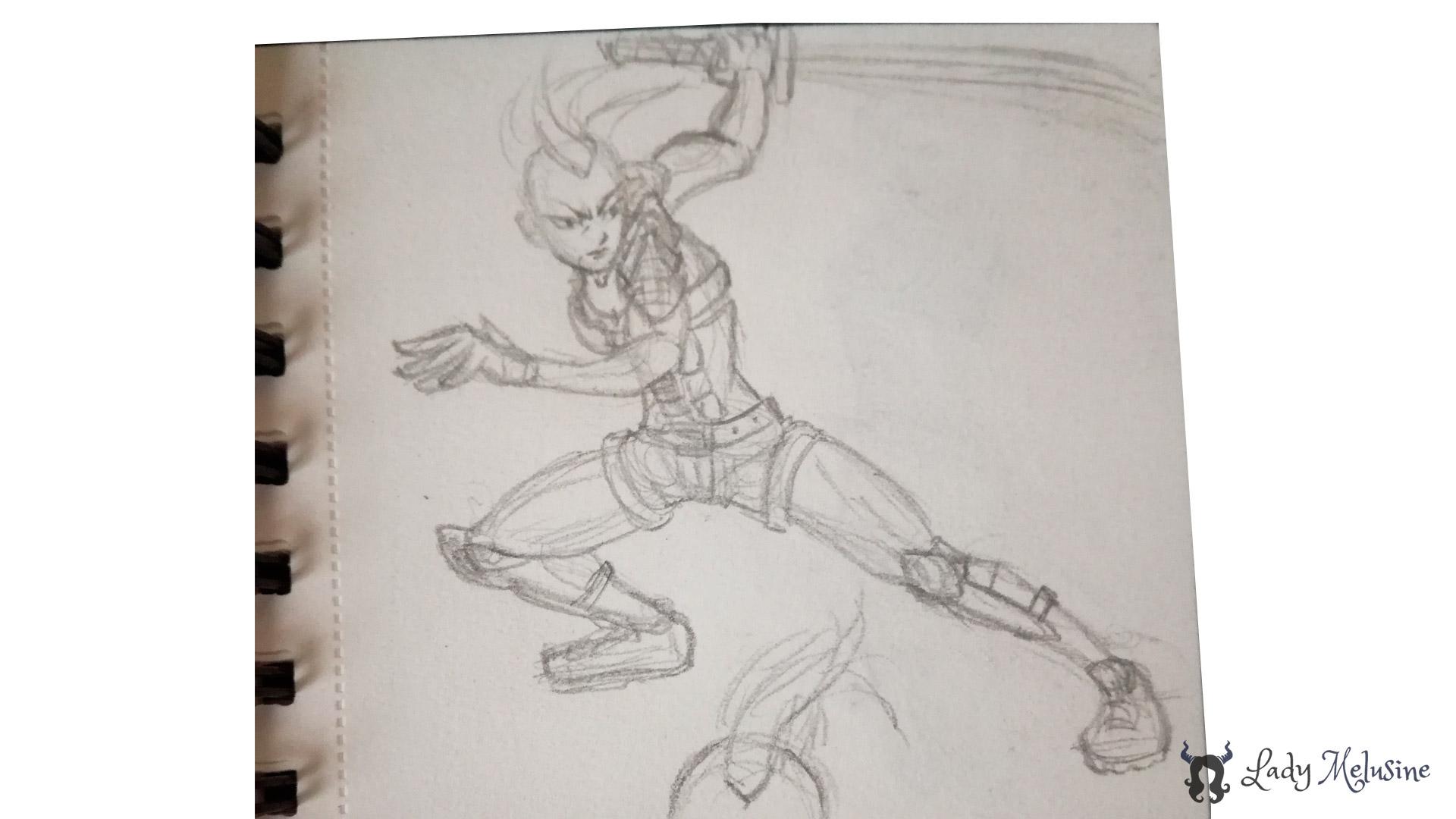 Digital Painting Warrior 00 Lady Melusine