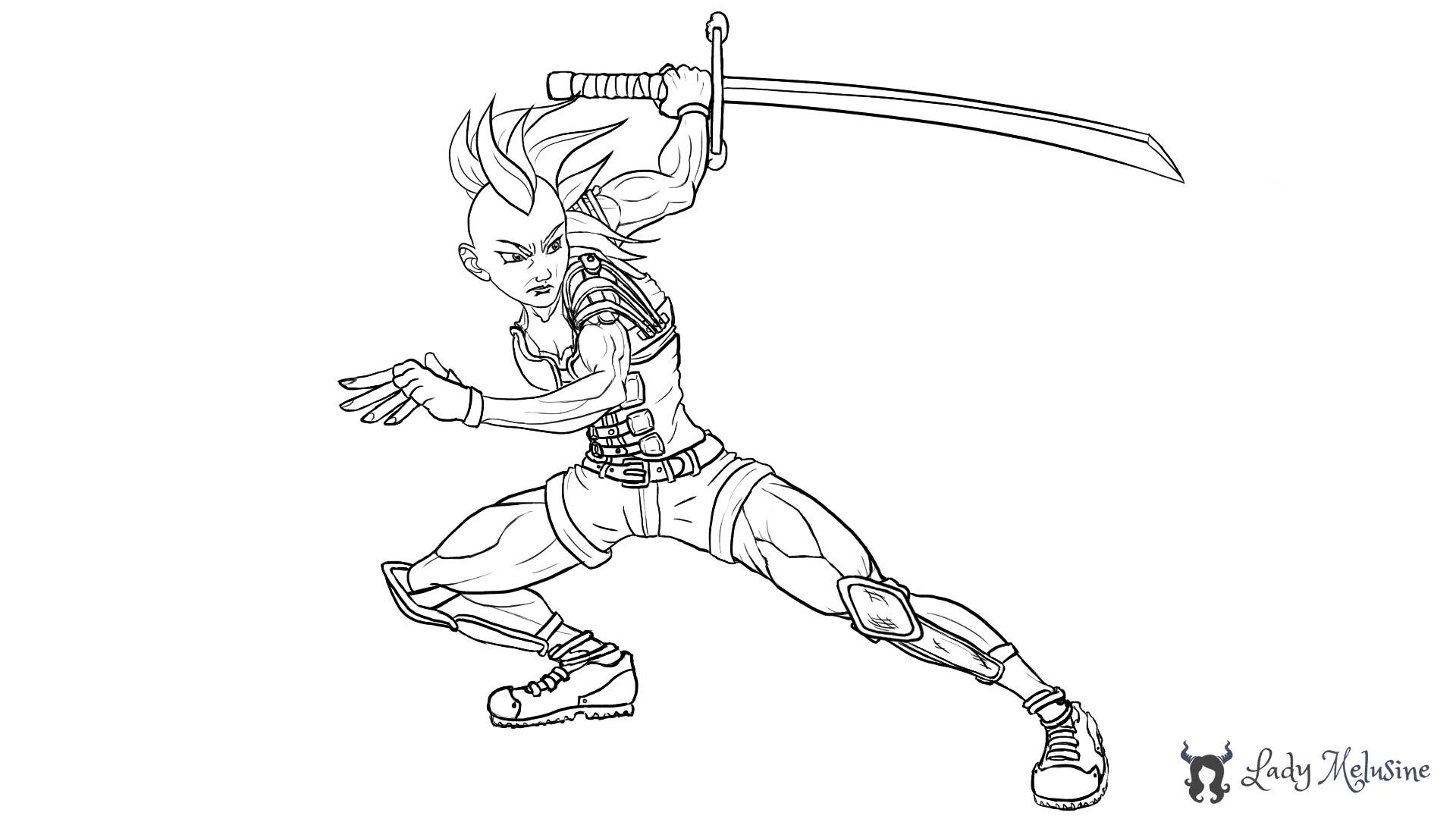 Digital Painting Warrior 01 Lady Melusine