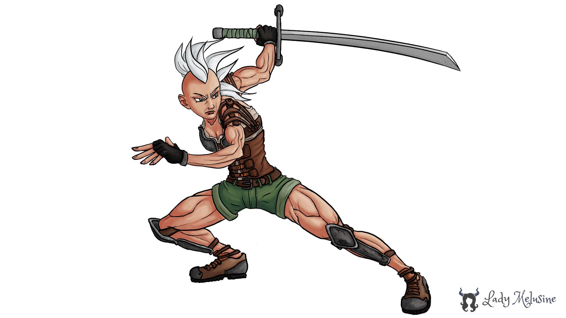 Digital Painting Warrior 02 Lady Melusine