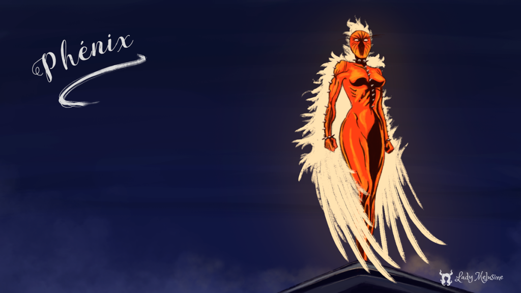 Digital painting fanart Phenix Lady Melusine