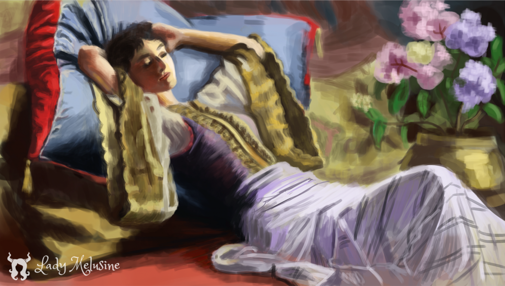 Digital painting Master Study 03 Lady Melusine
