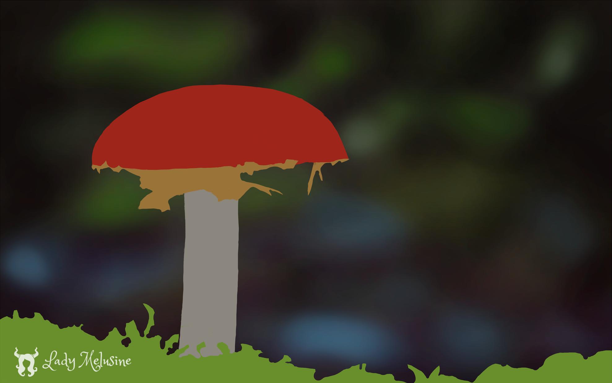 Mushroom Lady Melusine Step 01