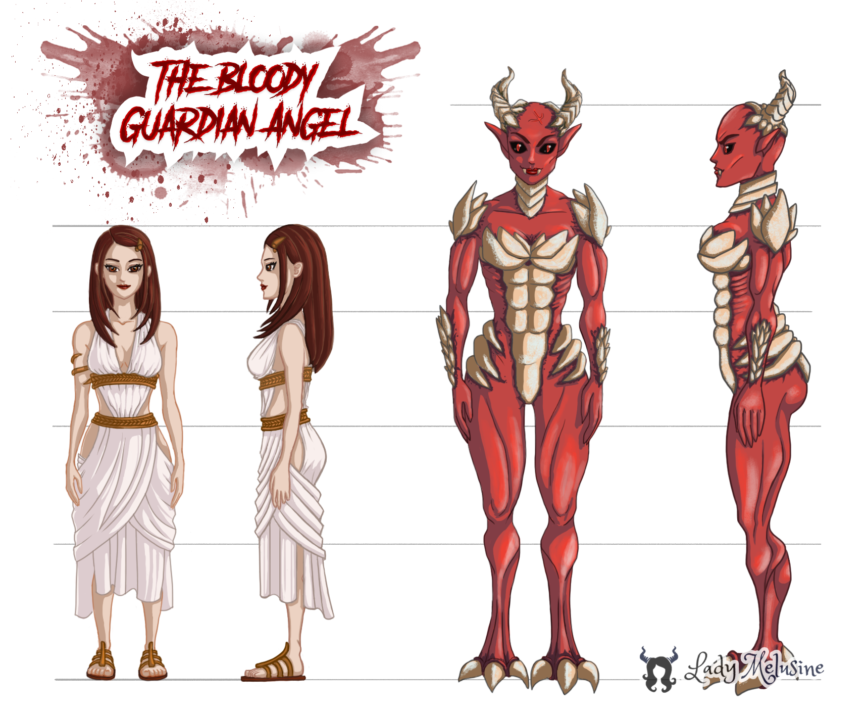 The Bloody guardian Angel Main Character