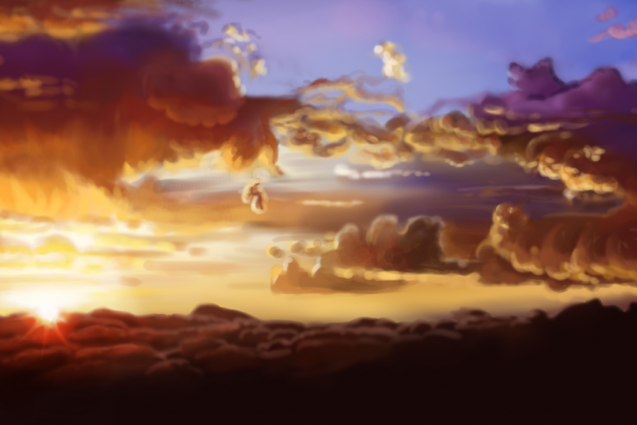 Clouds Study Lady Melusine
