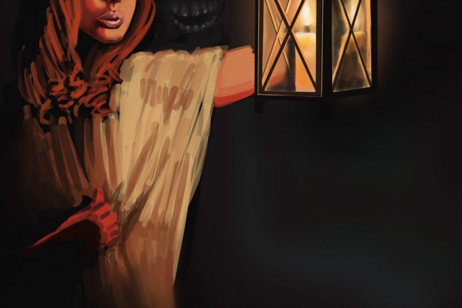 Light and shade painting Lady Melusine