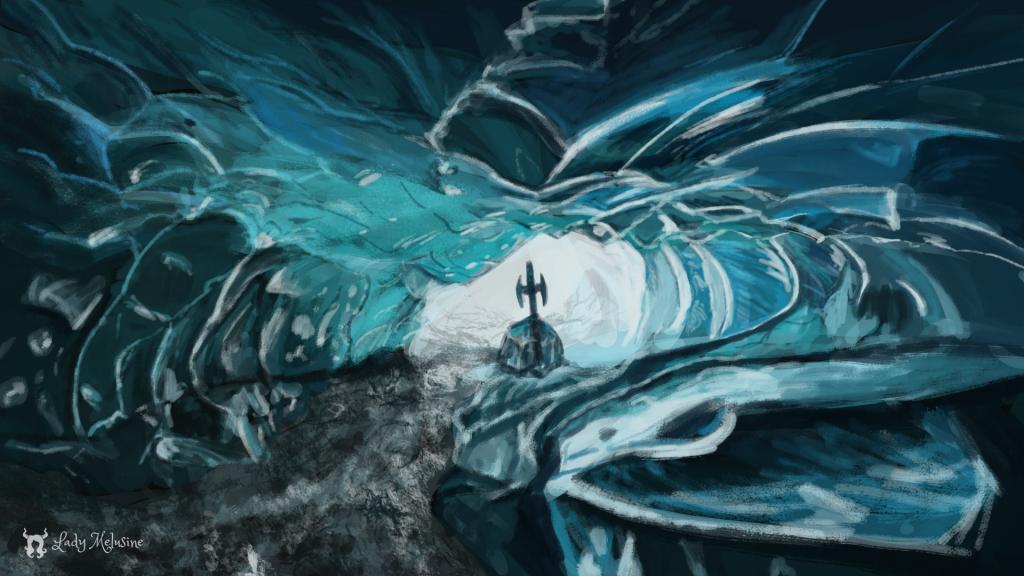 Speed Painting Ice Cave Lady Melusine