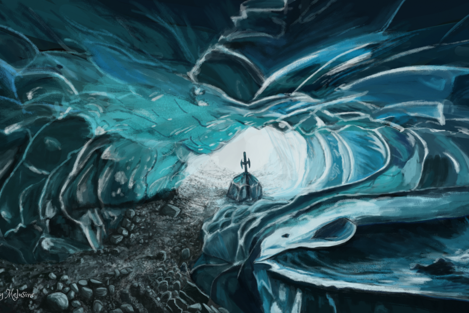 Fantastic Ice Cave Lady Melusine