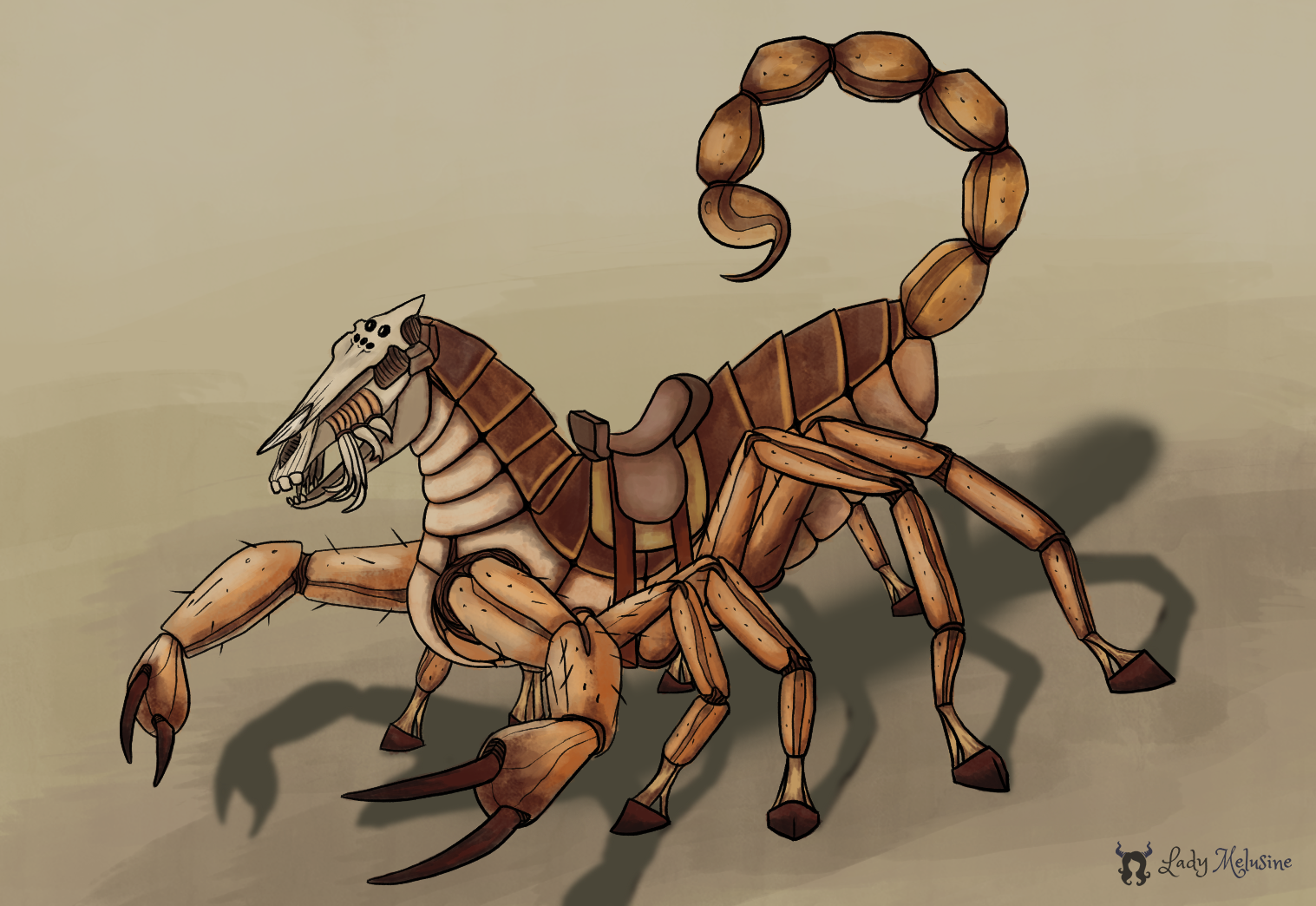 Chimera Scorpion Horse Lady Melusine