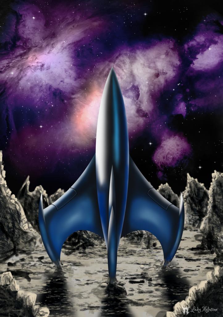 Inktober 2020 Day 16 Rocket Lady Melusine