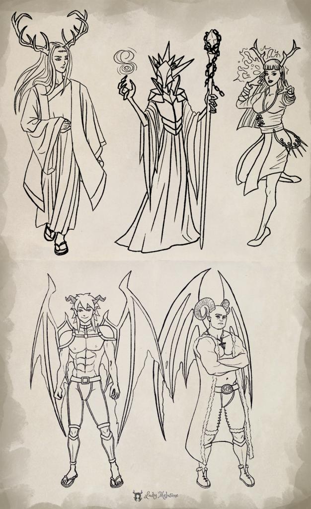 Demons characters concept Lady Melusine