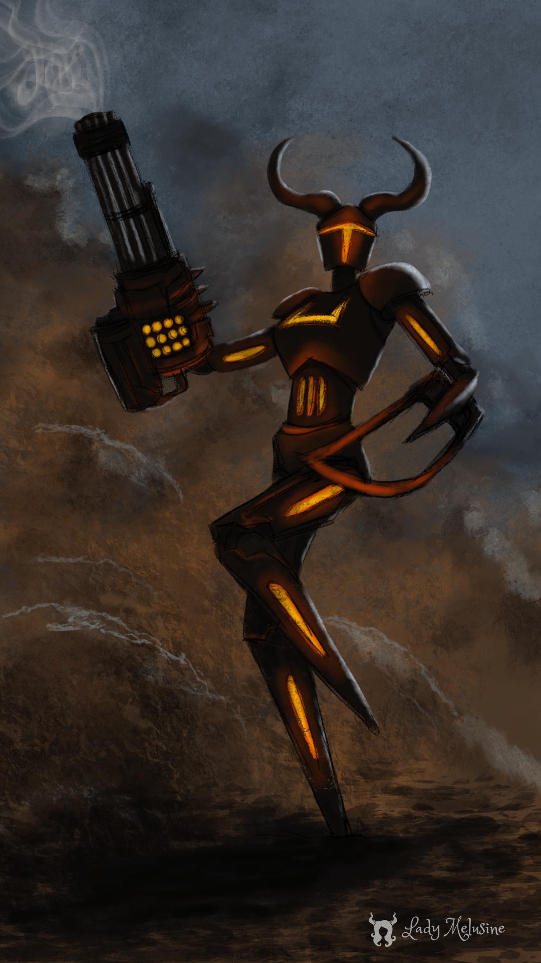 Weekly Speed painting Demon machine Lady Melusine