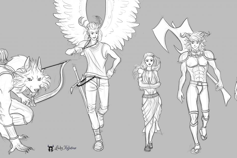 Weekly characters sketch